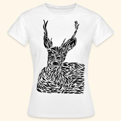 deer black and white - Naisten t-paita