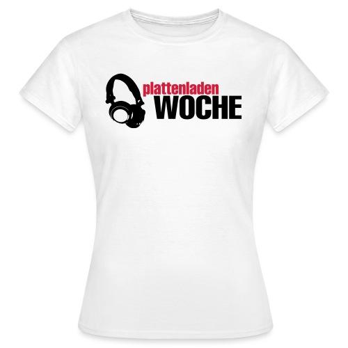 plattenwoche_schwarz_rot - Frauen T-Shirt