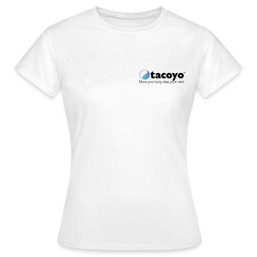 Borstlogo ZWART inclusief move your body - Vrouwen T-shirt