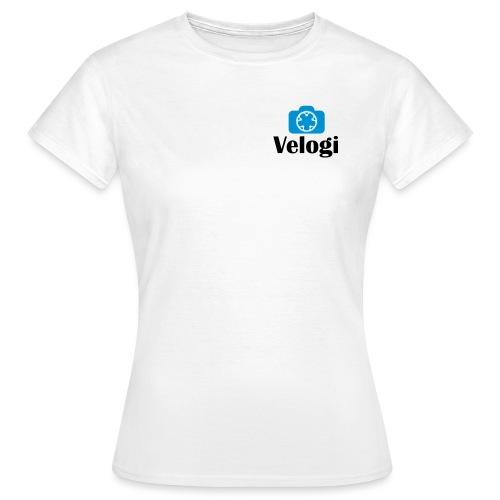 Velogi logo cyan black - Naisten t-paita