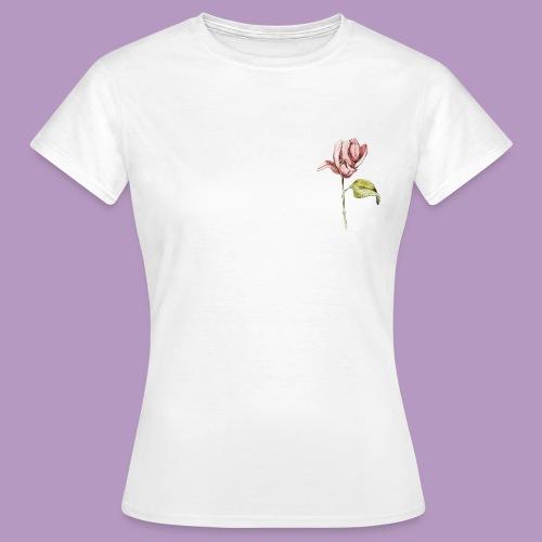 Rosa rosa garabatos - Camiseta mujer