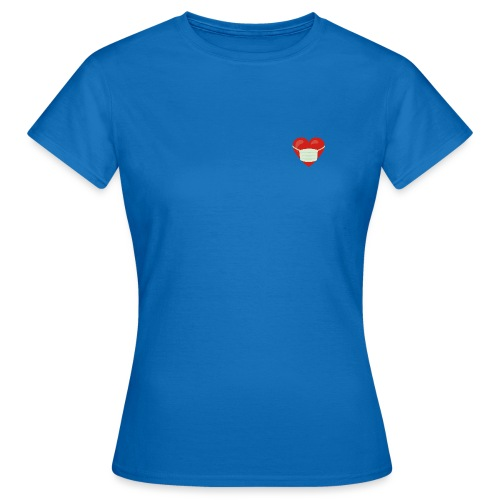 Herz mit Mundschutz - Frauen T-Shirt