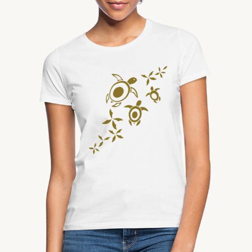 blumige Wasserschildis - Frauen T-Shirt