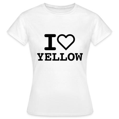 i love yellow 5 - Maglietta da donna