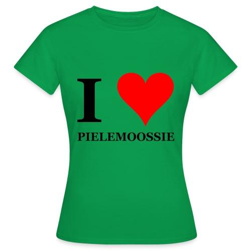 I love pielemoossie I love dick - Vrouwen T-shirt