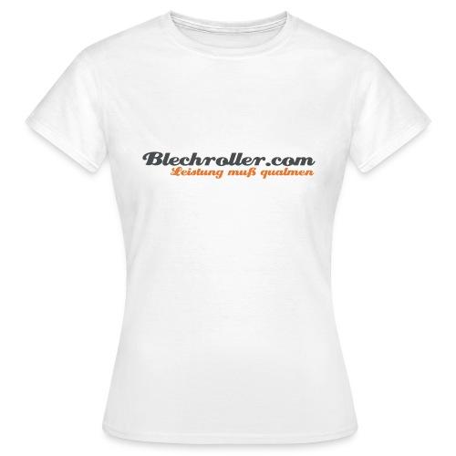 blechroller logo - Frauen T-Shirt