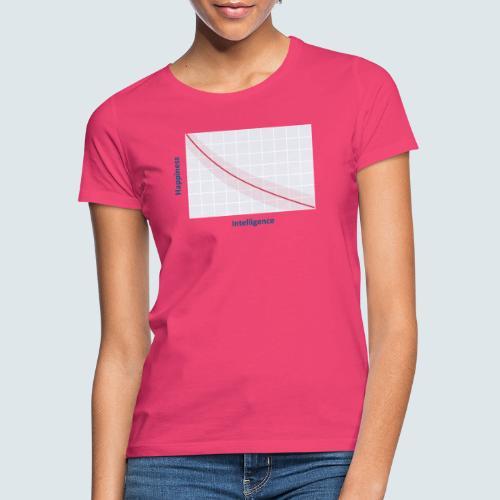 intelligence vs happiness - Frauen T-Shirt