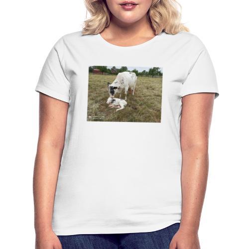 Kuh mit Kalb - Frauen T-Shirt