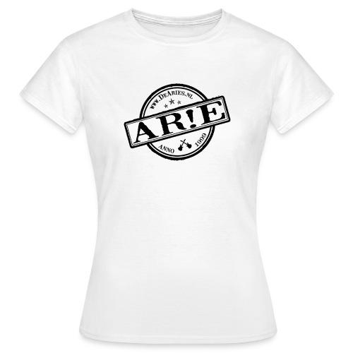 Backdrop AR E stempel zwart gif - Vrouwen T-shirt