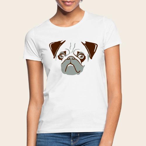 otiz mops kopf 2farbig - Frauen T-Shirt