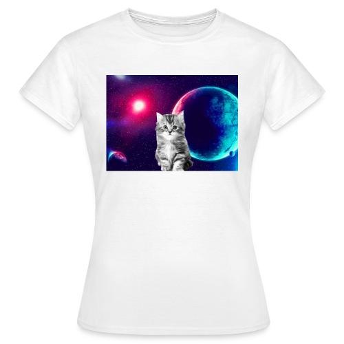Cute cat in space - Naisten t-paita