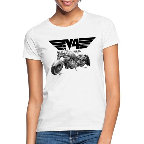 V4 Motorcycles black Wings - Frauen T-Shirt