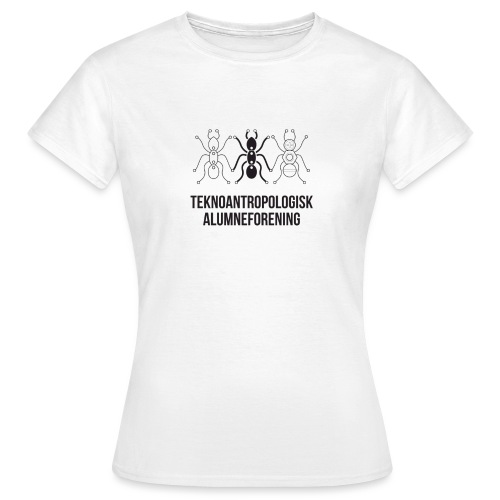 Teknoantropologisk Støtte T-shirt figur syet - Dame-T-shirt