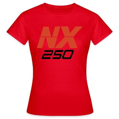 nx250 logo transparant - Vrouwen T-shirt