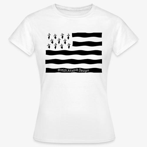 Gwenn ha Du-Noir fond transparent - T-shirt Femme