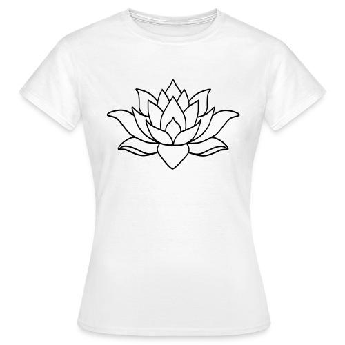 logo nur lotus pfade shirt - Frauen T-Shirt