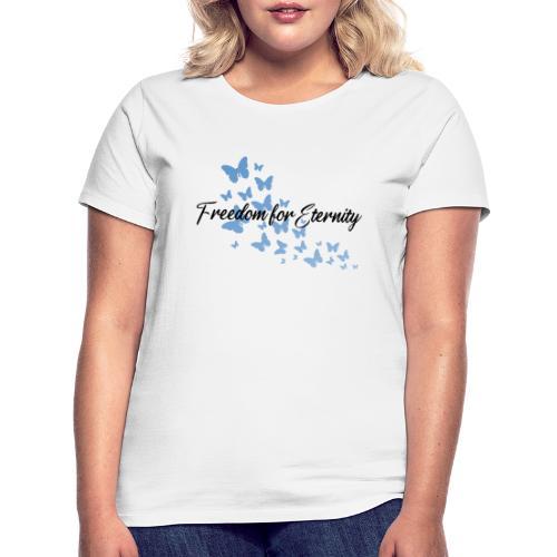 shirt blau text schwarz - Frauen T-Shirt
