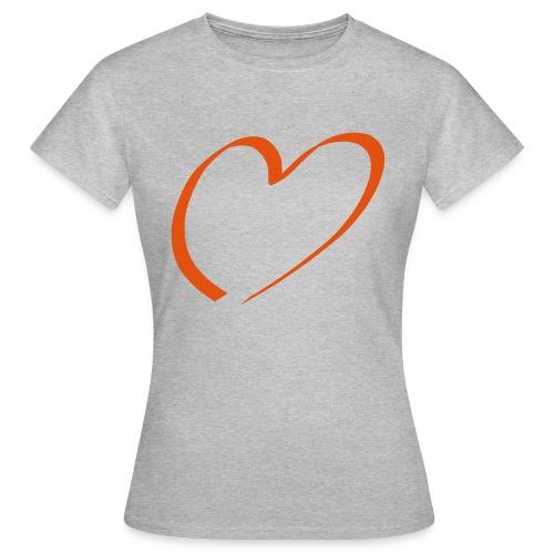 Herz rot - Frauen T-Shirt