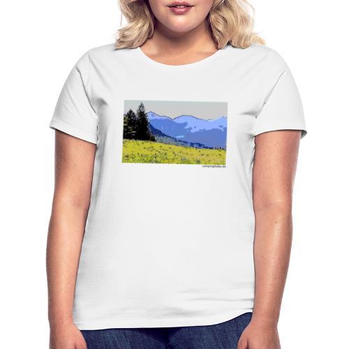 Berge künstlerisch - Frauen T-Shirt