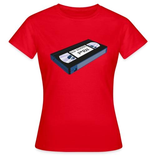 OLD SCHOOL P * RN vhs - T-shirt Femme