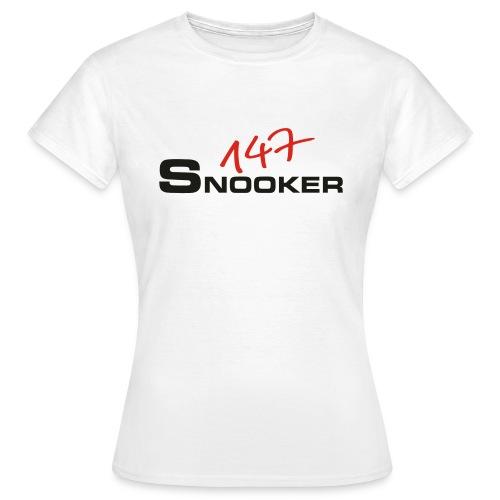 147_snooker - Frauen T-Shirt
