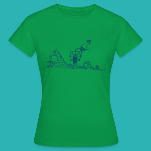 Carta_timone_blu-png - Maglietta da donna