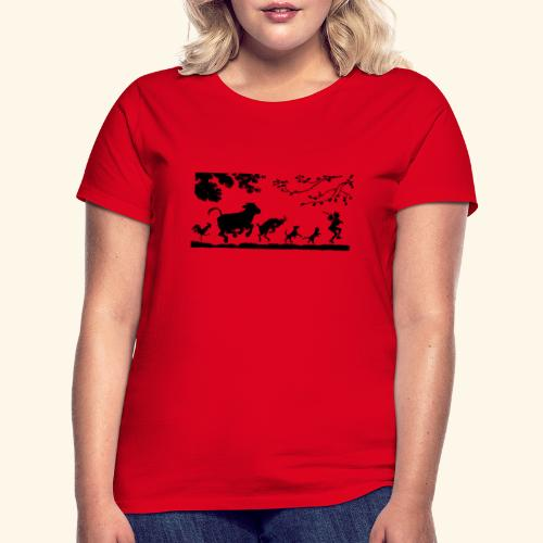 animales caminando - Camiseta mujer