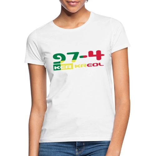 Logo 974 ker kreol VJR, rastafari - T-shirt Femme