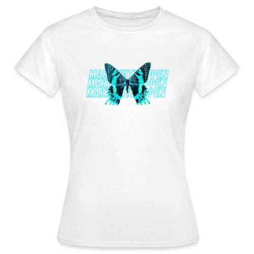 Electric Blue Butterfly - Women's T-Shirt