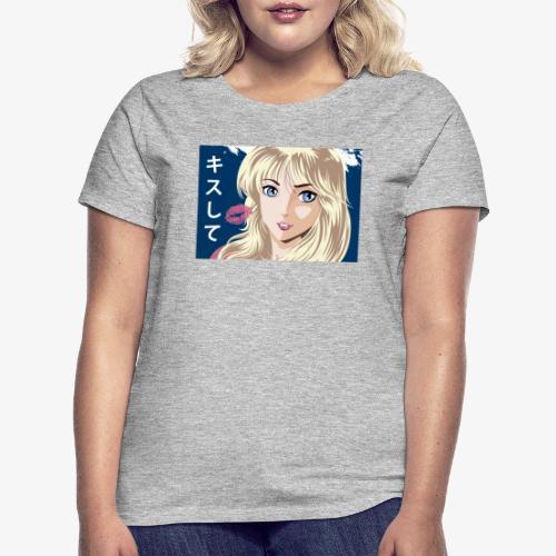 manga girl kiss - Camiseta mujer