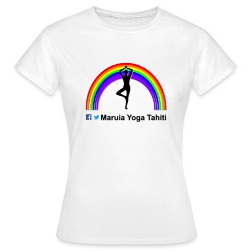 Logo de Maruia Yoga Tahiti - T-shirt Femme
