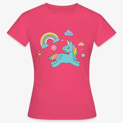 colored unicorn - Women's T-Shirt