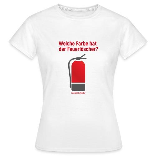 Feuerlöscher weiß - Frauen T-Shirt