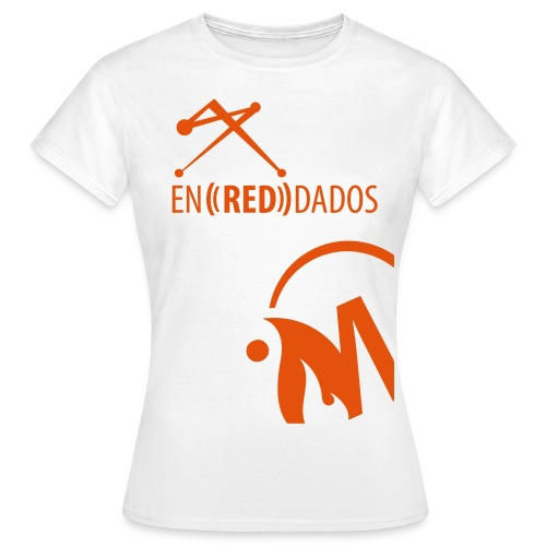 naranja_abajo - Camiseta mujer