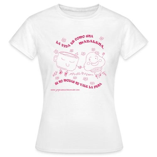 mojar a madalena pink gif - Camiseta mujer