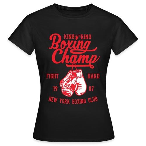 T-Shirt Boxeur Vintage rouge - T-shirt Femme