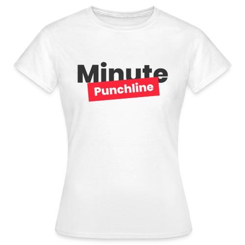 Minute Punchline - Logo Noir - T-shirt Femme