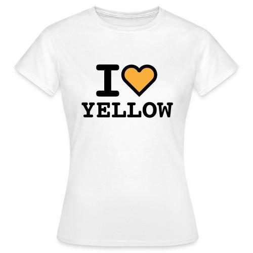 I love yellow - Maglietta da donna