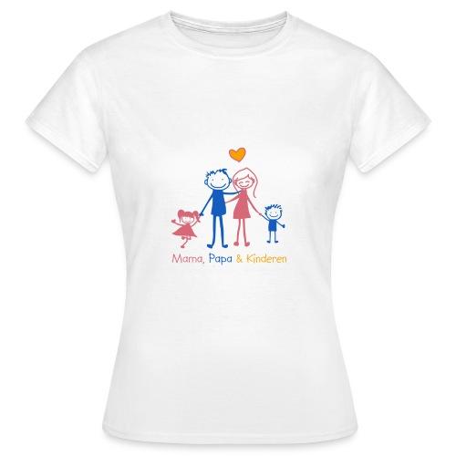 mama papa kinderen - Vrouwen T-shirt