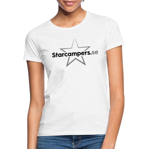 Starcampers centrerad logo - T-shirt dam