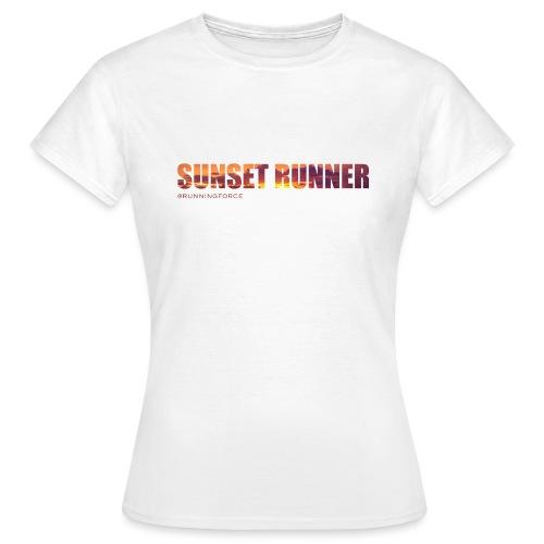Sunset Runner - @RUNNINGFORCE - Frauen T-Shirt