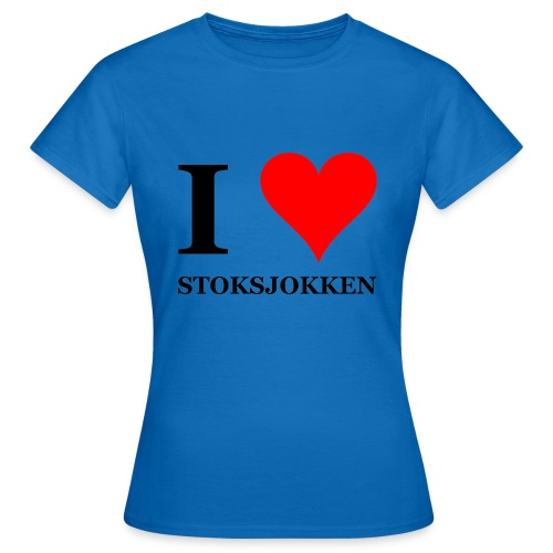 I love stoksjokken (Nordic Walking) - Vrouwen T-shirt