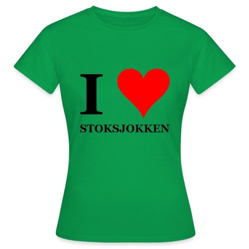 I love stoksjokken (Nordic Walking) - Vrouwen T-shirt