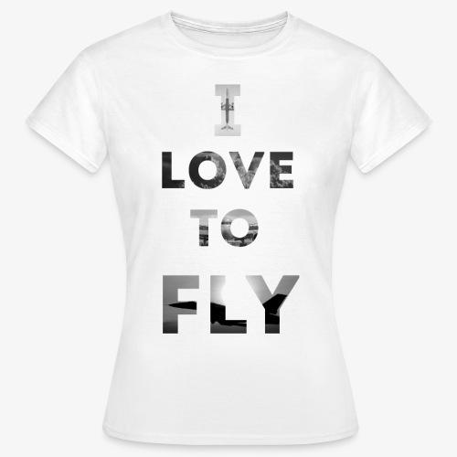 I LOVE TO FLY - Koszulka damska