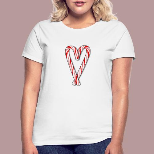 Sucre d'orge en forme de coeur - T-shirt Femme