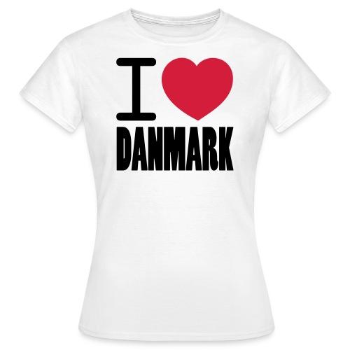 ilovedanmark - Dame-T-shirt