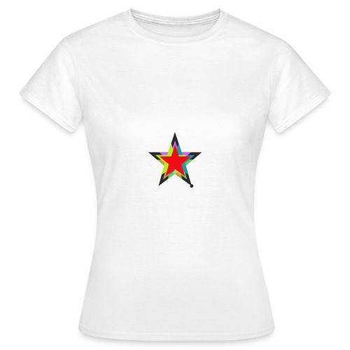 Colored star - Frauen T-Shirt