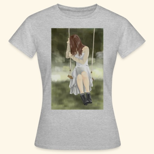 Sad Girl on Swing - Women's T-Shirt