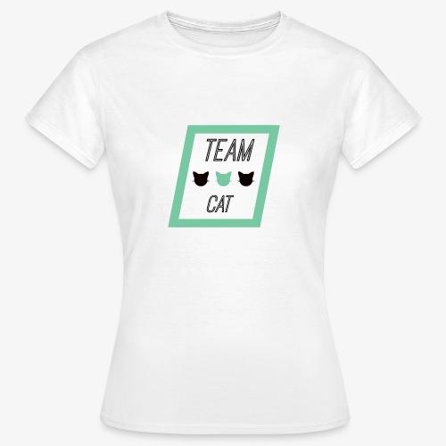 Team Cat - Slogan Tee - T-shirt Femme