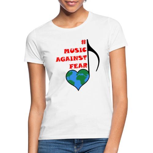 #MusicAgainstFear - Schwarz - Frauen T-Shirt